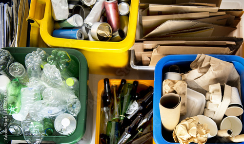 Fotografija  Trash for recycle and reduce ecology environment