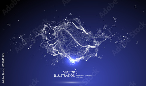 Cuadros en Lienzo Futuristic globalization interface, a sense of science and technology abstract graphics