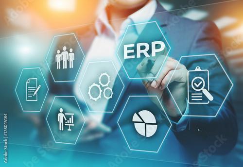 Fotografie, Obraz  Enterprise Resource Planning ERP Corporate Company Management Business Internet