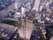Overhead Shot Of Abandoned Condominium Tower in Bangkok, Thailand