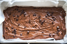 Brownie Or Chocolate Cake Raw Dough