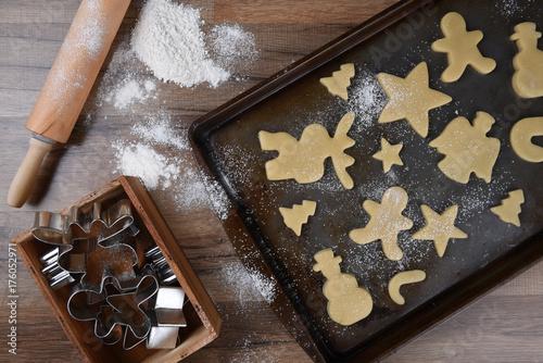 Zdjęcie XXL Dokonywanie ciasteczek w kształcie choinki
