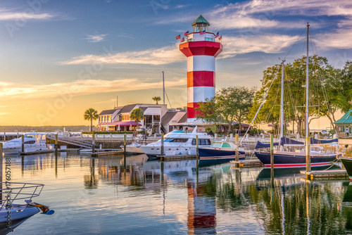 Foto auf Leinwand Leuchtturm Hilton Head South Carolina