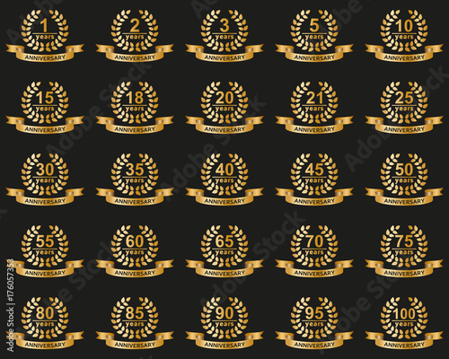 Laurel wreaths collection Fototapet