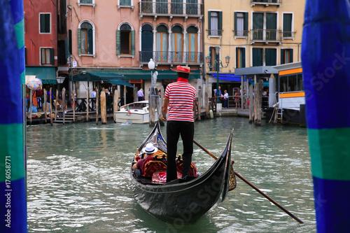 Fotografiet Gondola in Venice, Italy