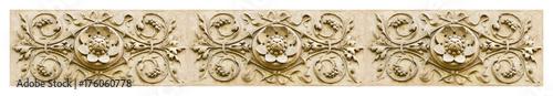 Photo Detail of the floral decor of an Italian facade - banner concept image