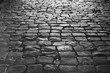 Ancient cobblestone pavement