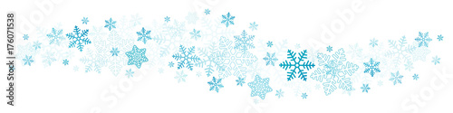 Granica niebieskie płatki śniegu