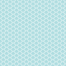 Seamless Retro Pattern Abstract Fan Turquoise