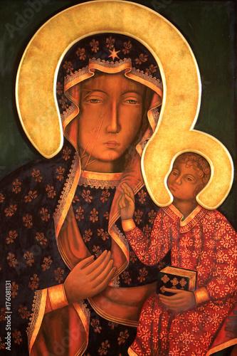 ikona-matki-bozej-czestochowskiej-crypt-bazylika-matki-boskiej-fourwii-lyon