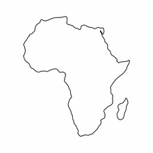 Africa Map Outline Graphic Fre...