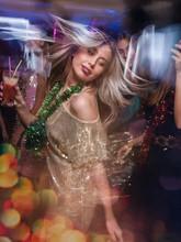 Female In Night Club In Blurre...