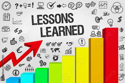 Fotografie, Obraz  Lessons Learned / Diagramm mit Symbole