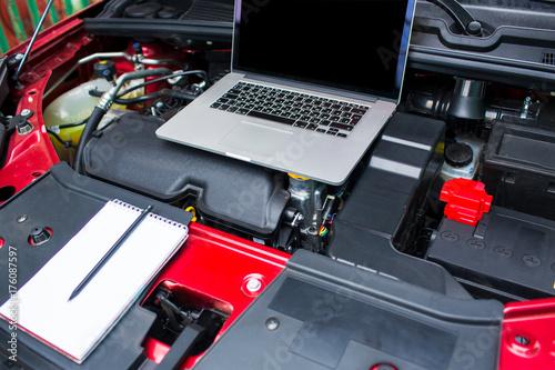 Fototapeta Computer diagnostics of the car. obraz na płótnie