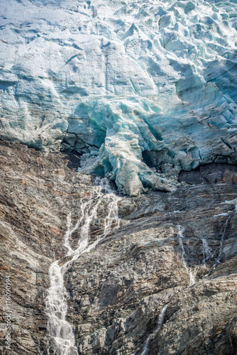 Fotografie, Obraz  Close up on the lower end of The Bossons glacier, in Chamonix Mont Blanc Massif,