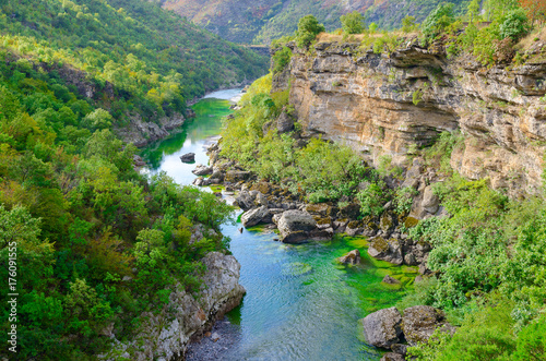 Poster de jardin Canyon Beautiful view of canyon of river Moraca, Montenegro