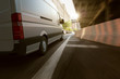 Lieferwagen in der Stadt