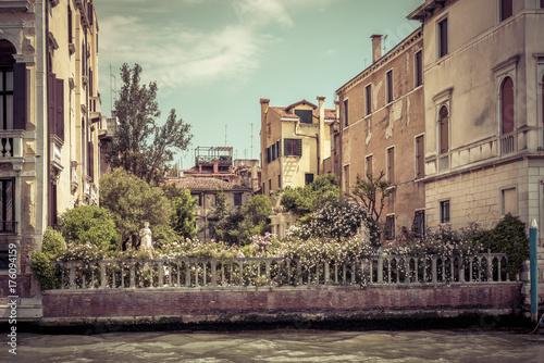 Plakat Piękny ogród na Canale Grande w Wenecji