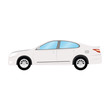 1643408 Car vector template on white background. Business sedan isolated. white sedan flat style. side view