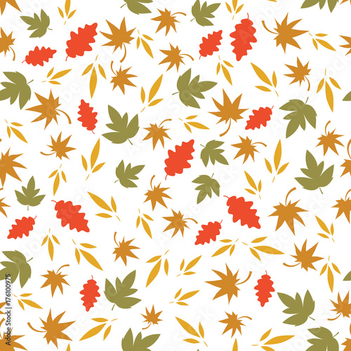 Autumn Seamless Pattern With Leaf Autumn Leaf Background Abstract Leaf Texture Cute Backdrop Leaf Fall Colorful Leaves Autumn Background The Elegant The Template For Fashion Prints Vector Buy This Stock Vector