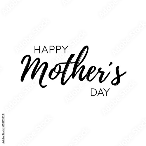 Happy Mother´s Day - modern lettering on white background Canvas-taulu