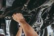 Handsome auto service mechanic