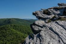 Rock Outcropping Above Blue Ri...