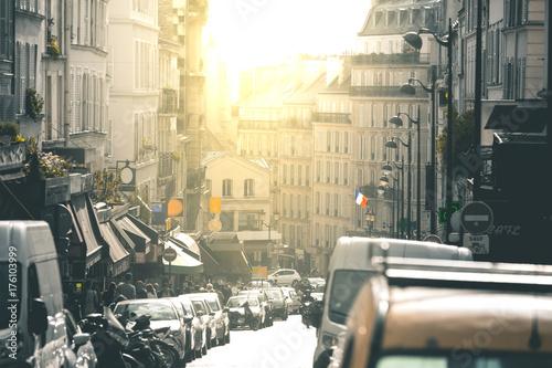 Fototapeta Ulice wokół Montmartre - Paryż