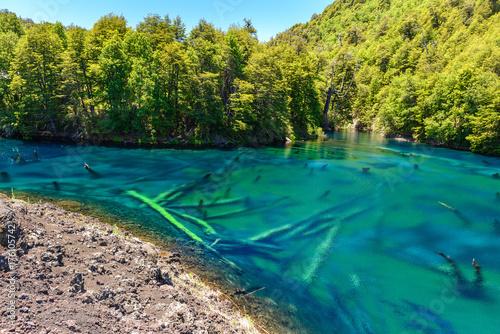 Aluminium Prints Bali Rainbow lake in Conguillio National Park, Chile