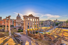 Rome Sunrise City Skyline At R...