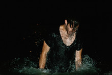 Man Rises Above Surface Of Dark Waters Gasping For Air