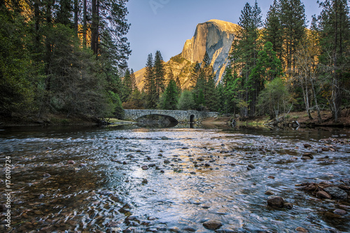 Photo  Half Dome at Sentinel Bridge