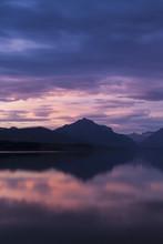 Sunset On Lake McDonald, Glaci...