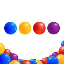 Colored Balls Isolated On Whit...