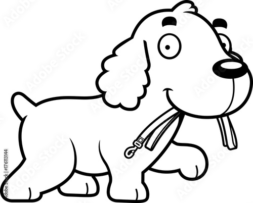 Cartoon Cocker Spaniel Leash