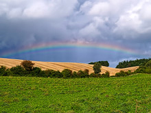 Rainbow Over Country Side Open...