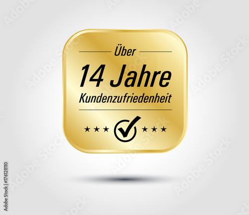 Photo 14 Jahre Kundenzufriedenheit gold icon