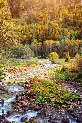 Zdjęcie XXL górski potok jesienią