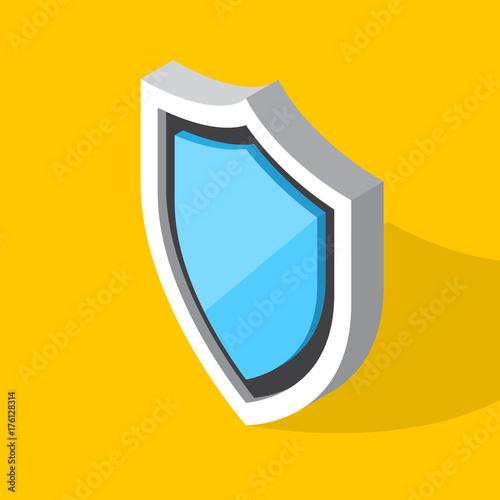 Obraz na plátně Isometric shield icon