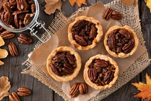 Mini Pecan Pie Tarts, Above Vi...