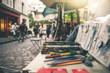 canvas print picture - Art at Place du Tertre - Paris