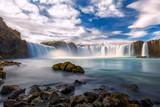 Amazing Godafoss waterfall