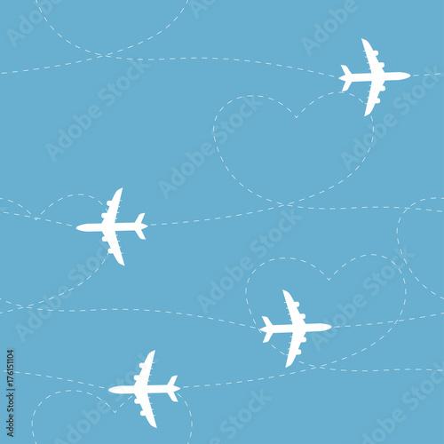 kreskowka-sciezki-samolotem-wzor