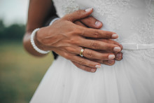 Hands Of A Bride And Groom.