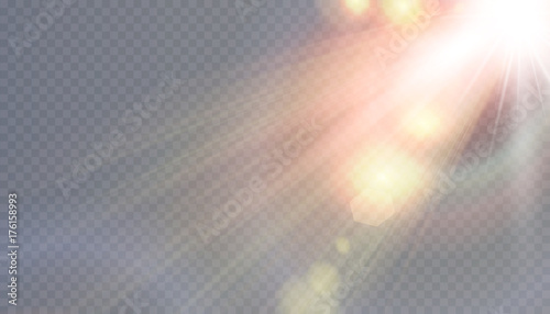 Fototapeta Vector transparent sunlight special lens flare obraz na płótnie