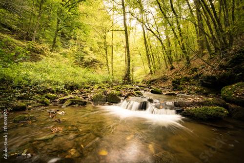 Zdjęcie XXL Mały wodospad w Eifel, długi czas ekspozycji
