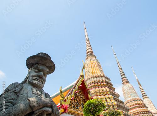 Plakat Wat Pho (Wat Phra Chetuphon Vimolmangklararm Rajwaramahaviharn), Pranakorn District, Bangkok, Tajlandia