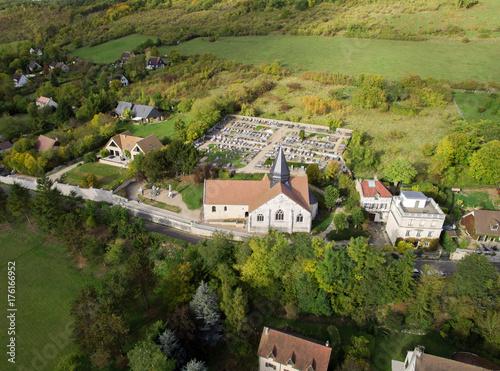 Zdjęcie XXL Kościół Saint Radegonde i Cmentarz Giverny (Eure, Francja)