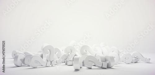 Fotografía  pile of questions marks 3d render