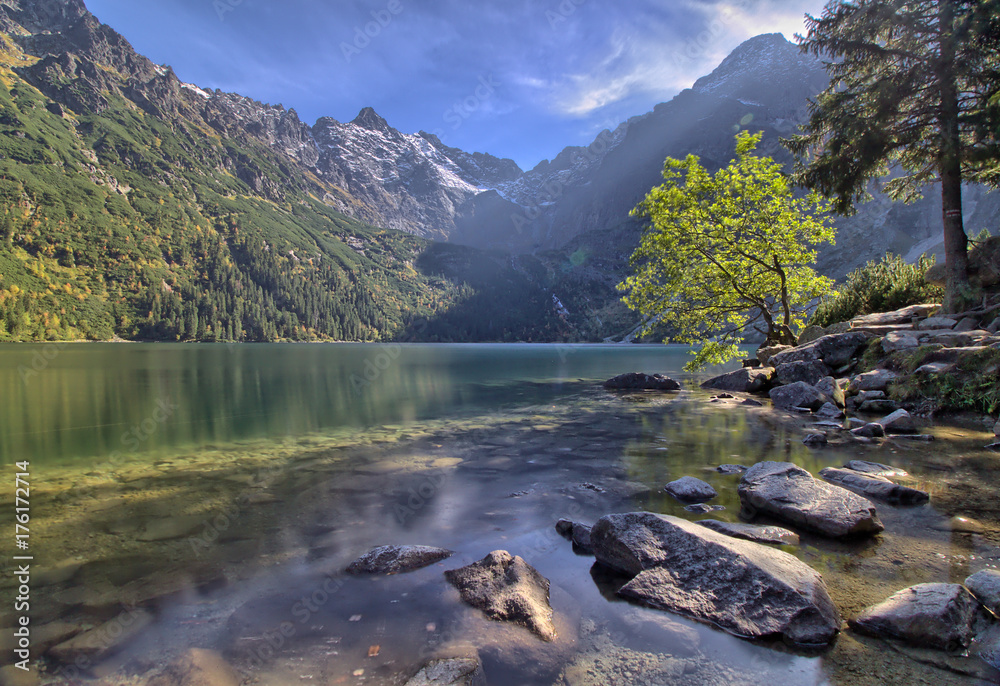 Fototapety, obrazy: Morskie Oko lake in the Tatra Mountains, Zakopane, Poland
